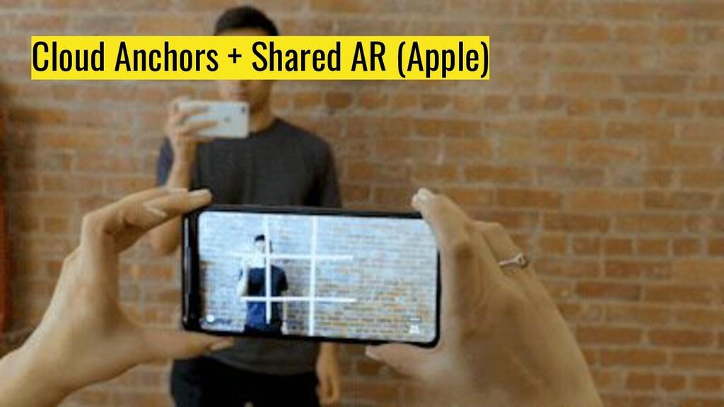Cloud Anchors + Shared AR (Apple)