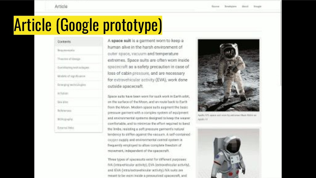 Article (Google prototype)
