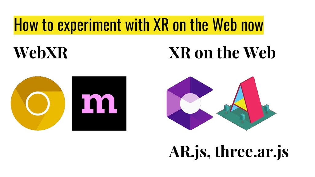 How to experiment with XR on the Web now AR.js,...