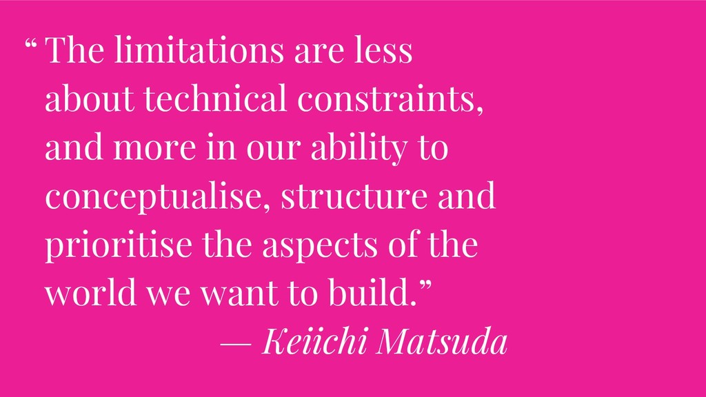 The limitations are less about technical constr...