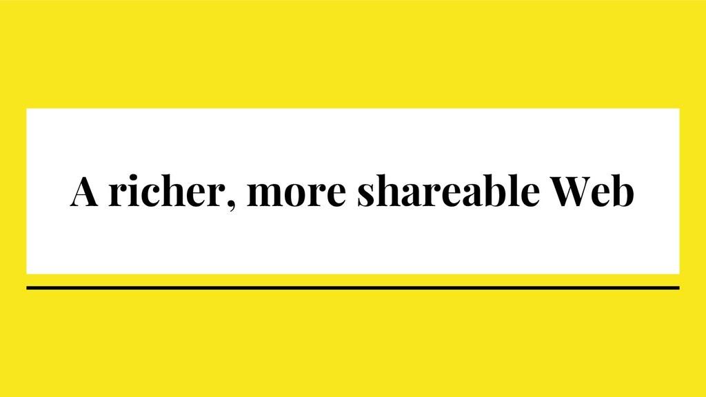 A richer, more shareable Web