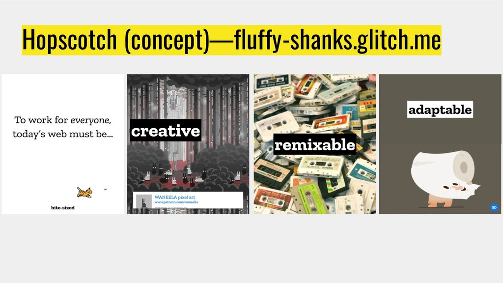 Hopscotch (concept)—fluffy-shanks.glitch.me
