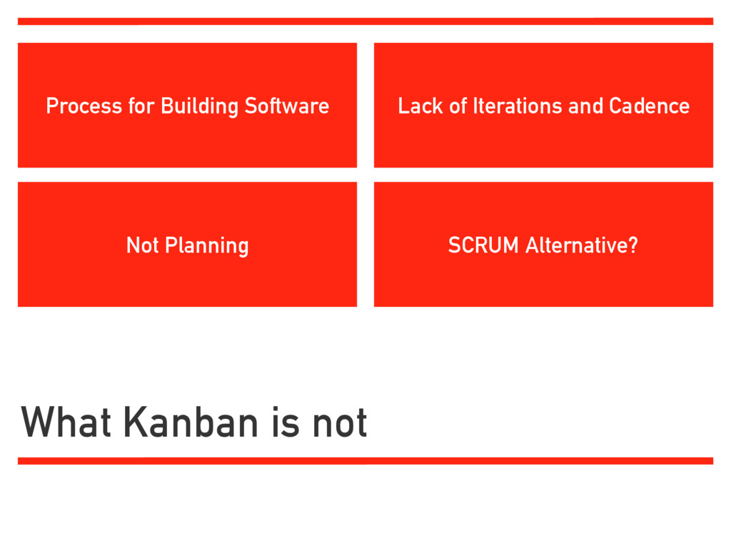 What Kanban is not SCRUM Alternative? Lack of I...