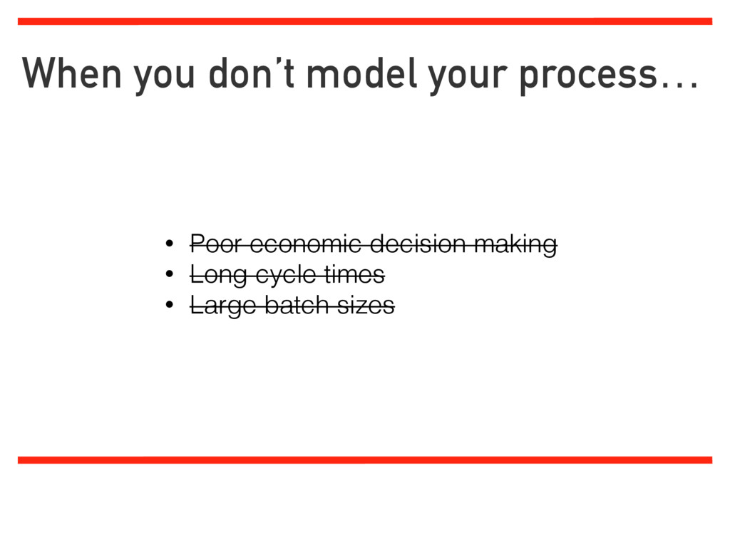 When you don't model your process… Limiting wor...