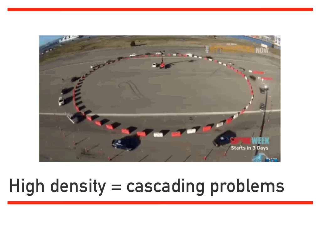 High density = cascading problems