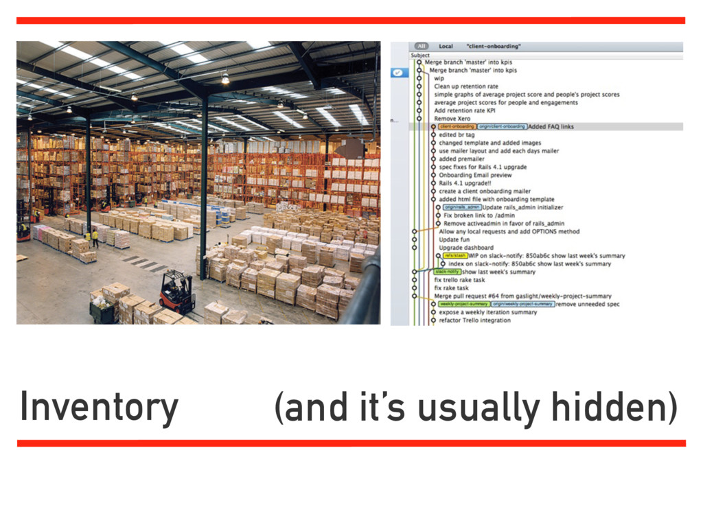 Inventory (and it's usually hidden)