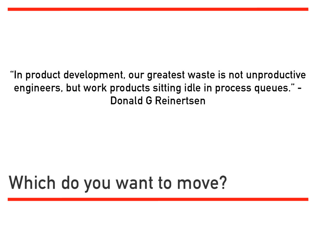"""""""In product development, our greatest waste is ..."""