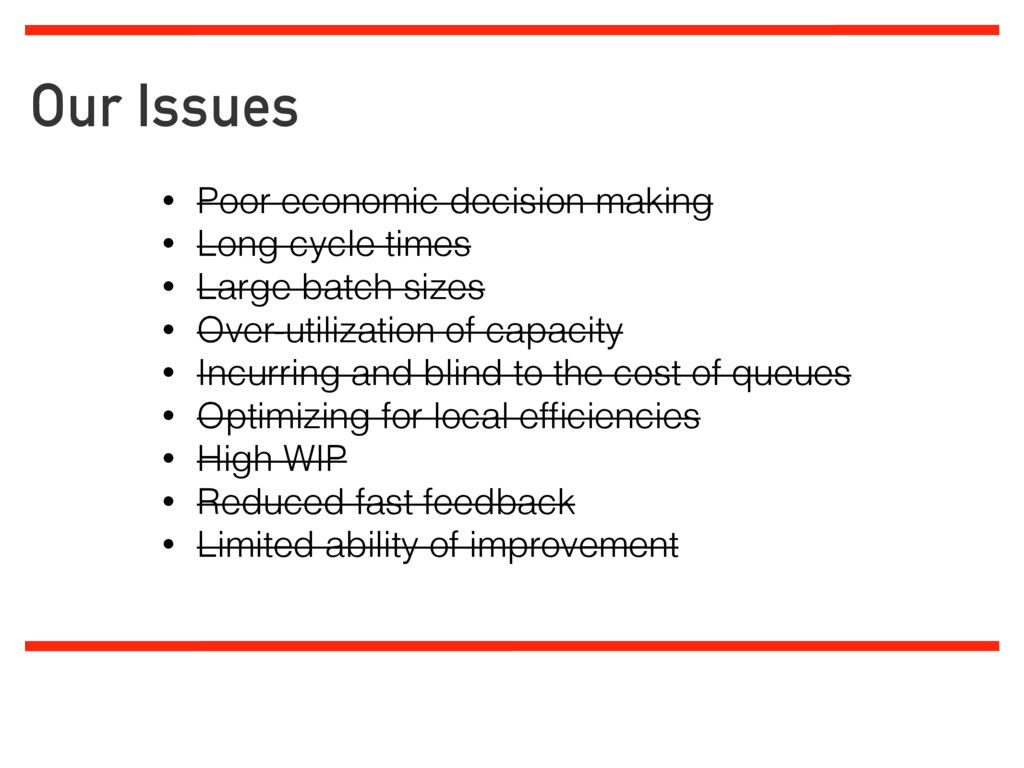 Our Issues Limiting work in progress Analyzing ...