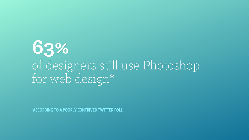 63% of designers still use Photoshop 