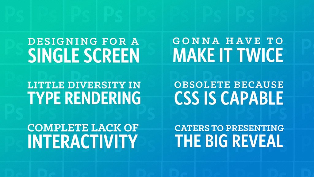 DESIGNING FOR A SINGLE SCREEN LITTLE DIVERSITY ...