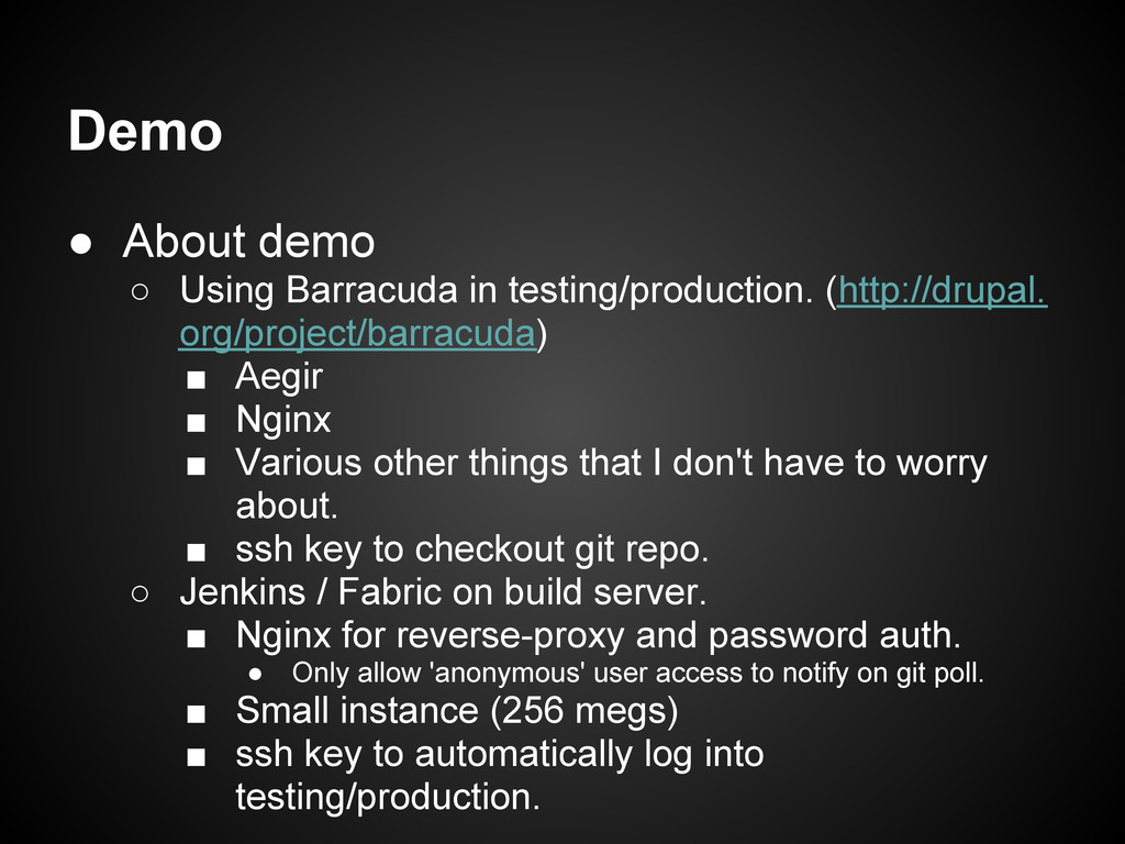 Demo ● About demo ○ Using Barracuda in testing/...