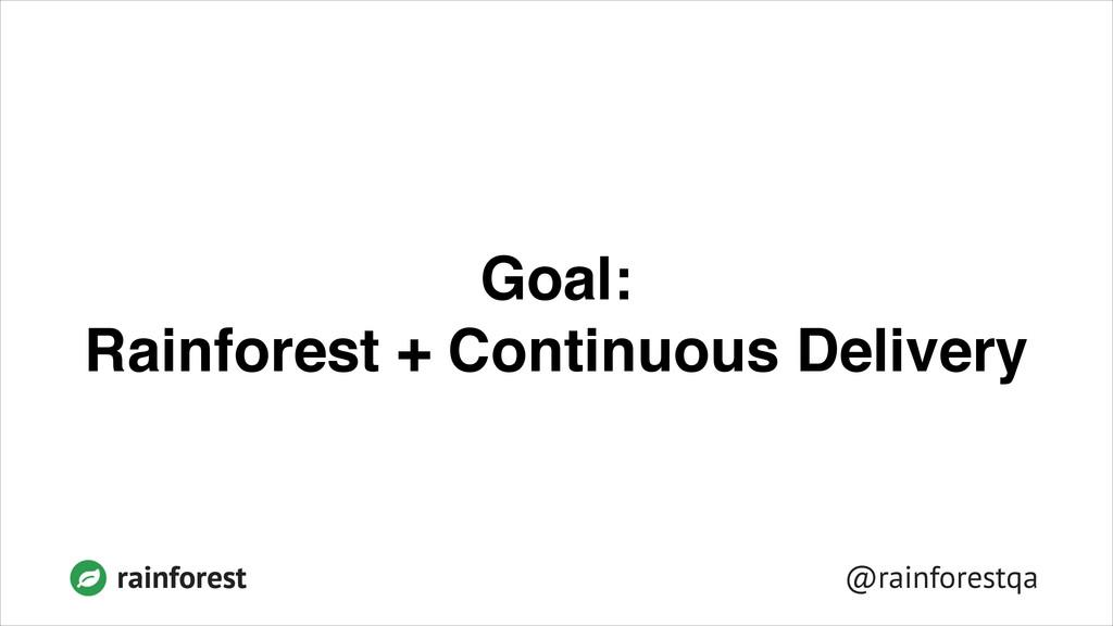 @rainforestqa rainforest Goal:! Rainforest + Co...