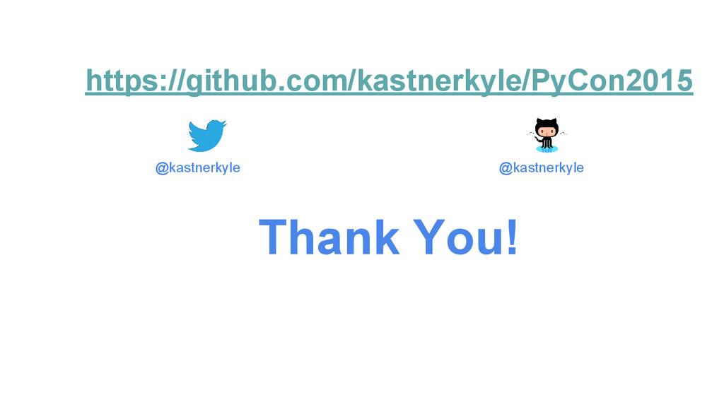 https://github.com/kastnerkyle/PyCon2015 Thank ...