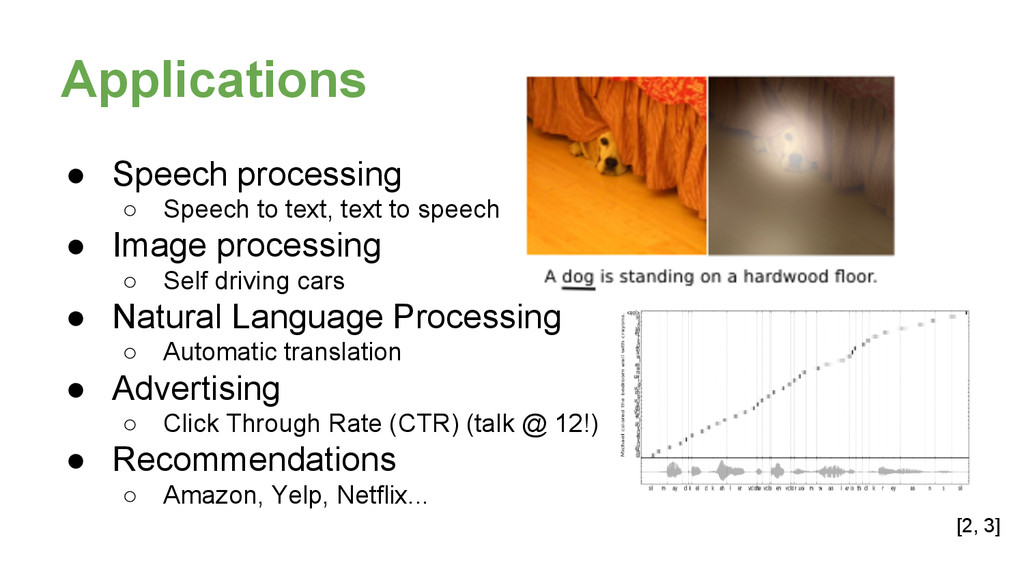 Applications ● Speech processing ○ Speech to te...