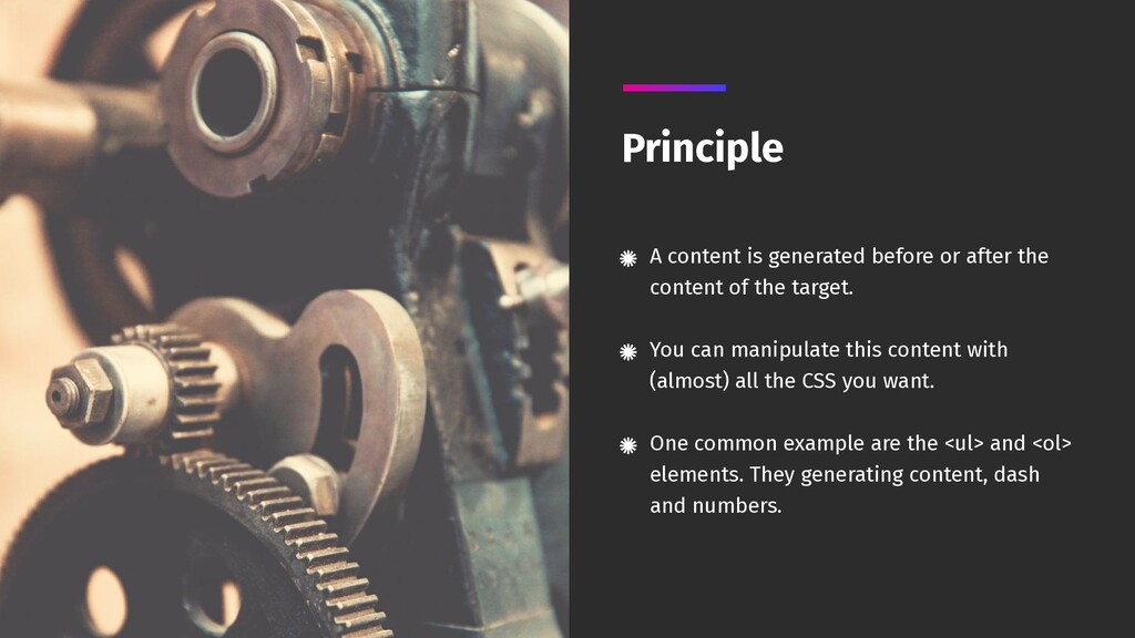 A content is generated before or after the cont...
