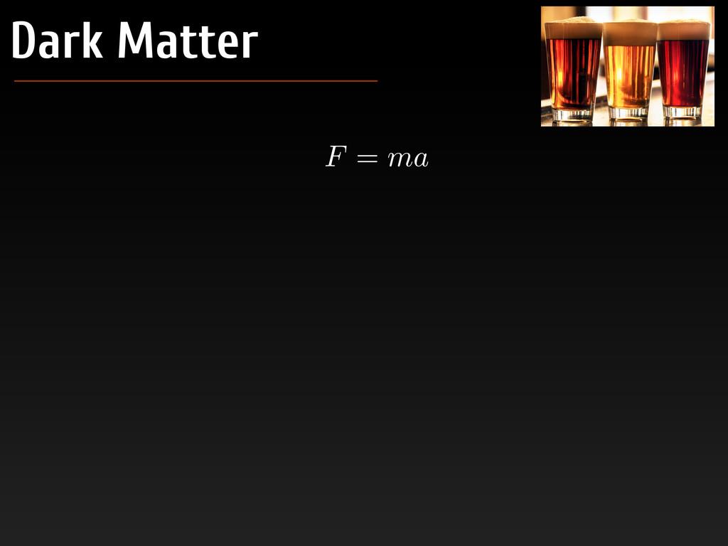 Dark Matter F = ma