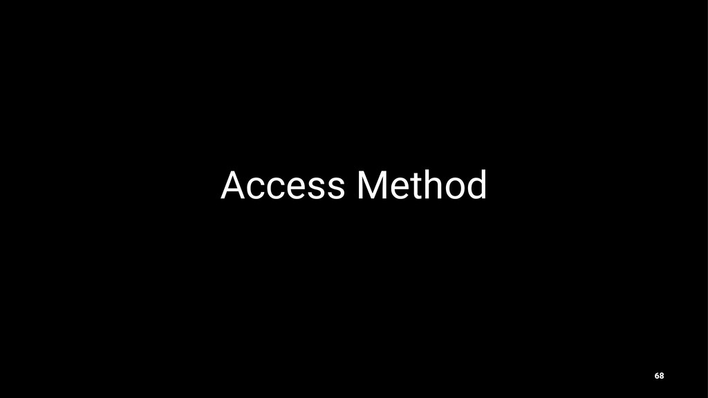 Access Method 68