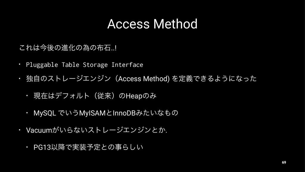 Access Method ͜ΕࠓޙͷਐԽͷҝͷੴ..! • Pluggable Tabl...