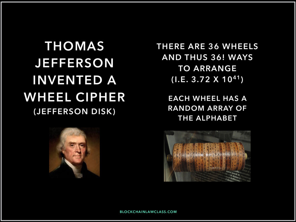 BLOCKCHAINLAWCLASS.COM THOMAS JEFFERSON INVENTE...