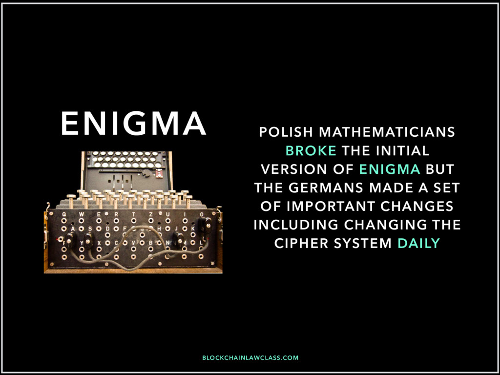BLOCKCHAINLAWCLASS.COM ENIGMA POLISH MATHEMATIC...
