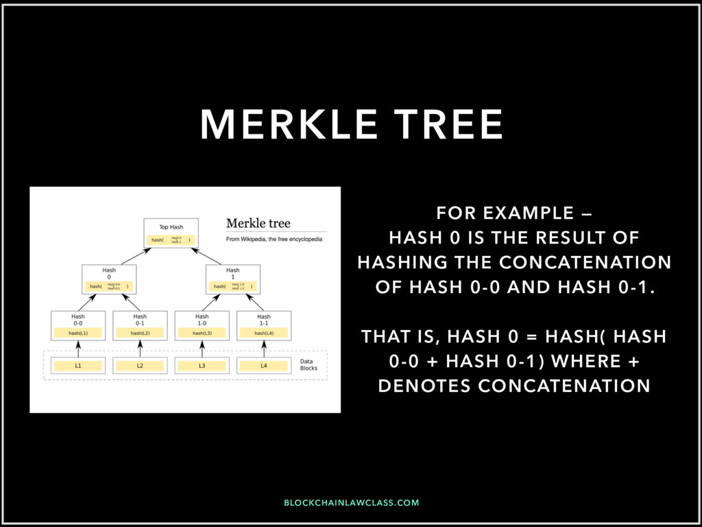 BLOCKCHAINLAWCLASS.COM MERKLE TREE FOR EXAMPLE ...