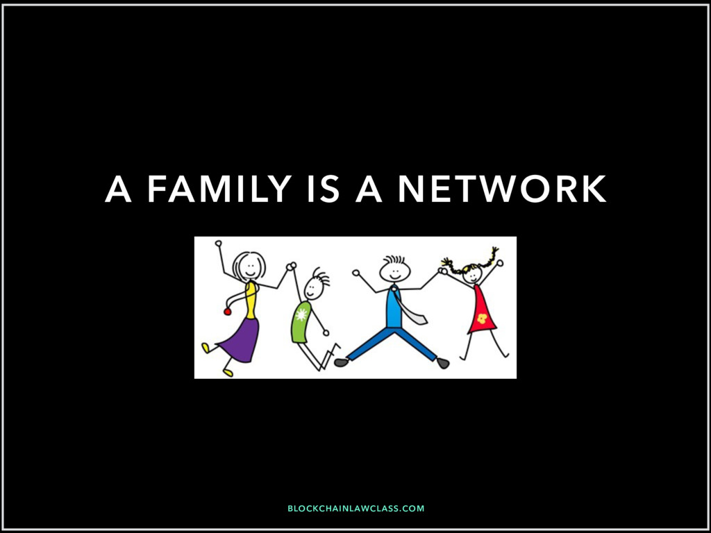 BLOCKCHAINLAWCLASS.COM A FAMILY IS A NETWORK
