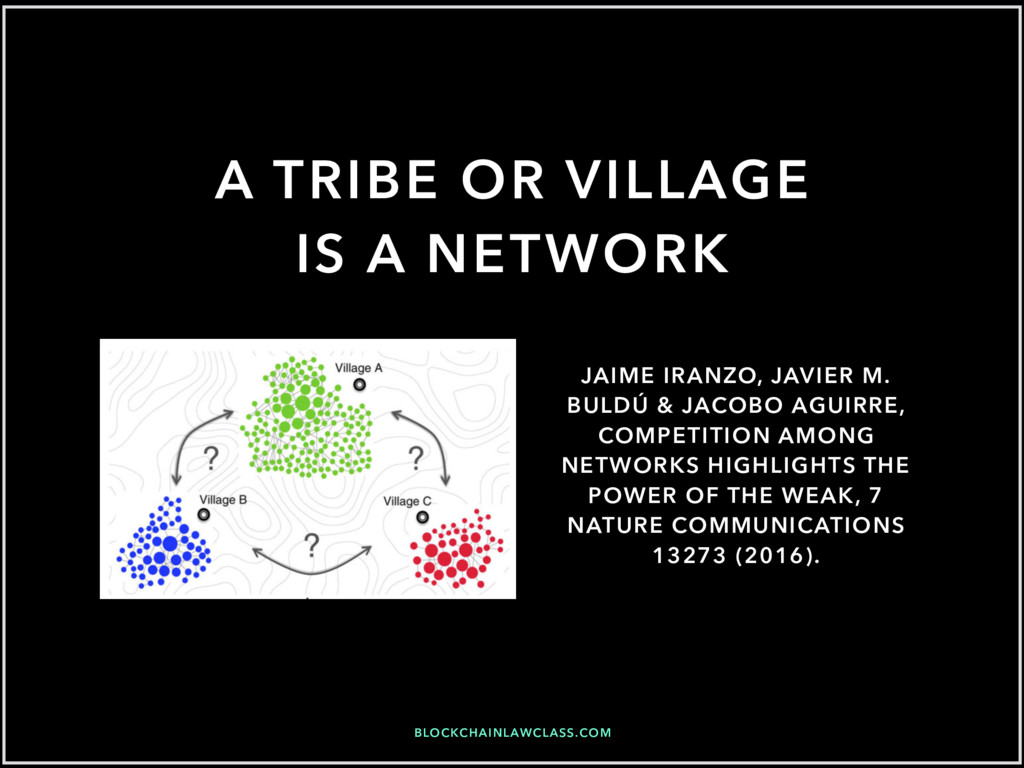 BLOCKCHAINLAWCLASS.COM A TRIBE OR VILLAGE IS A ...
