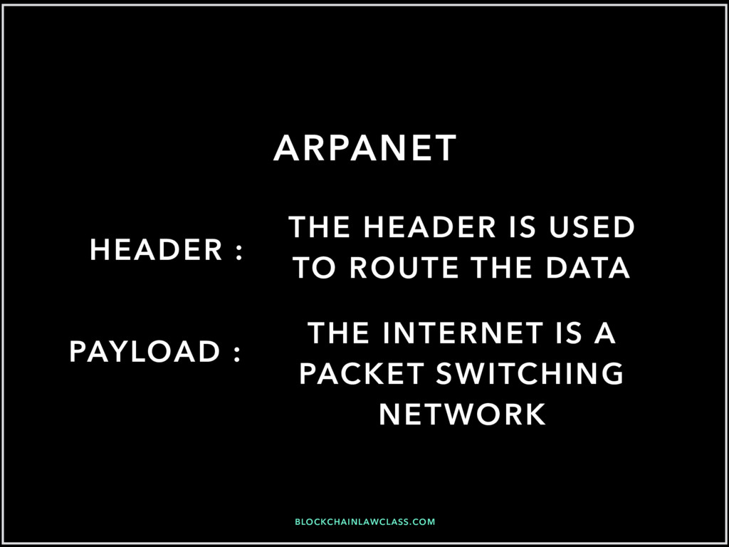 BLOCKCHAINLAWCLASS.COM ARPANET HEADER : THE INT...