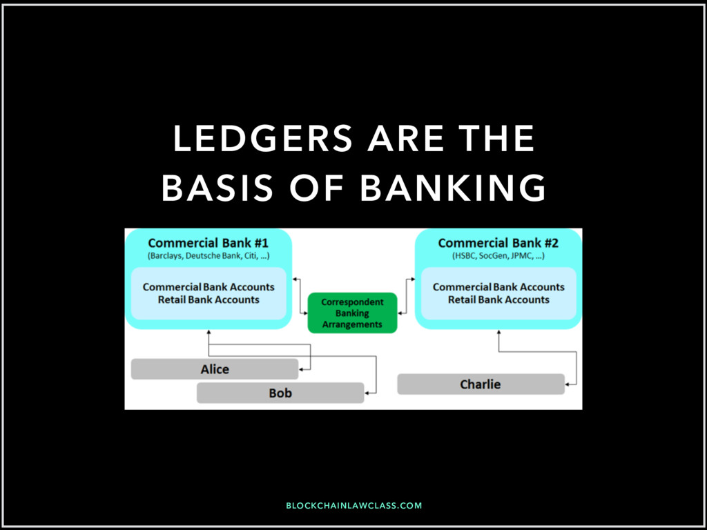 BLOCKCHAINLAWCLASS.COM LEDGERS ARE THE BASIS OF...