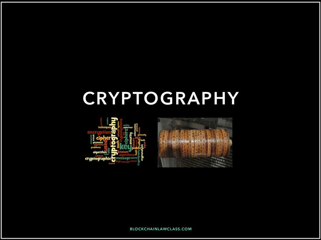 BLOCKCHAINLAWCLASS.COM CRYPTOGRAPHY