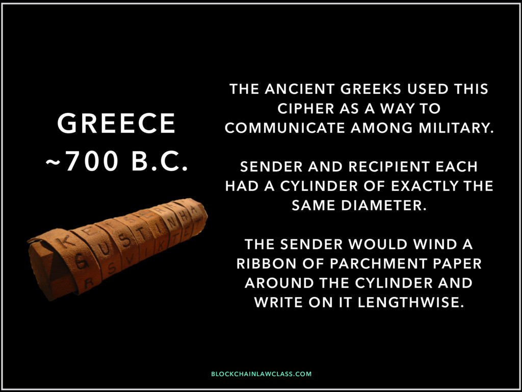 BLOCKCHAINLAWCLASS.COM GREECE ~700 B.C. THE ANC...