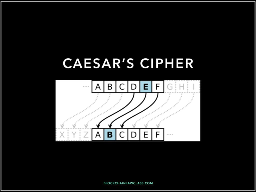 BLOCKCHAINLAWCLASS.COM CAESAR'S CIPHER