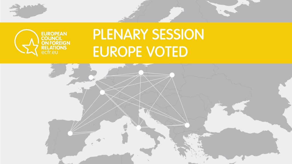 PLENARY SESSION EUROPE VOTED