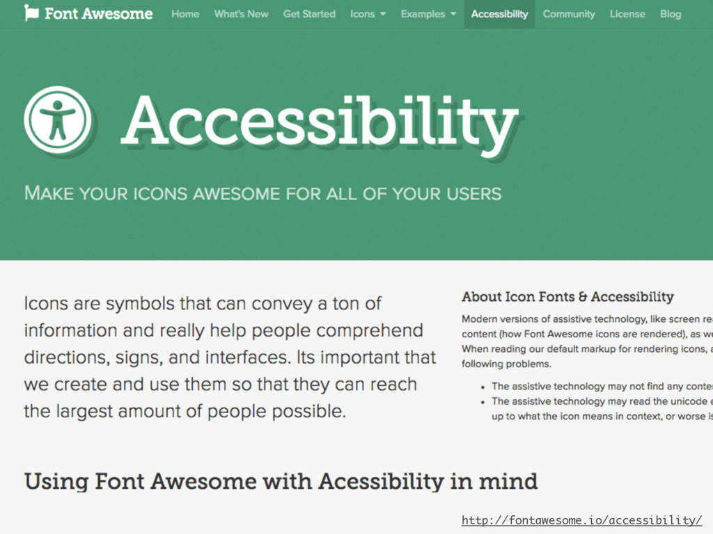 http://fontawesome.io/accessibility/