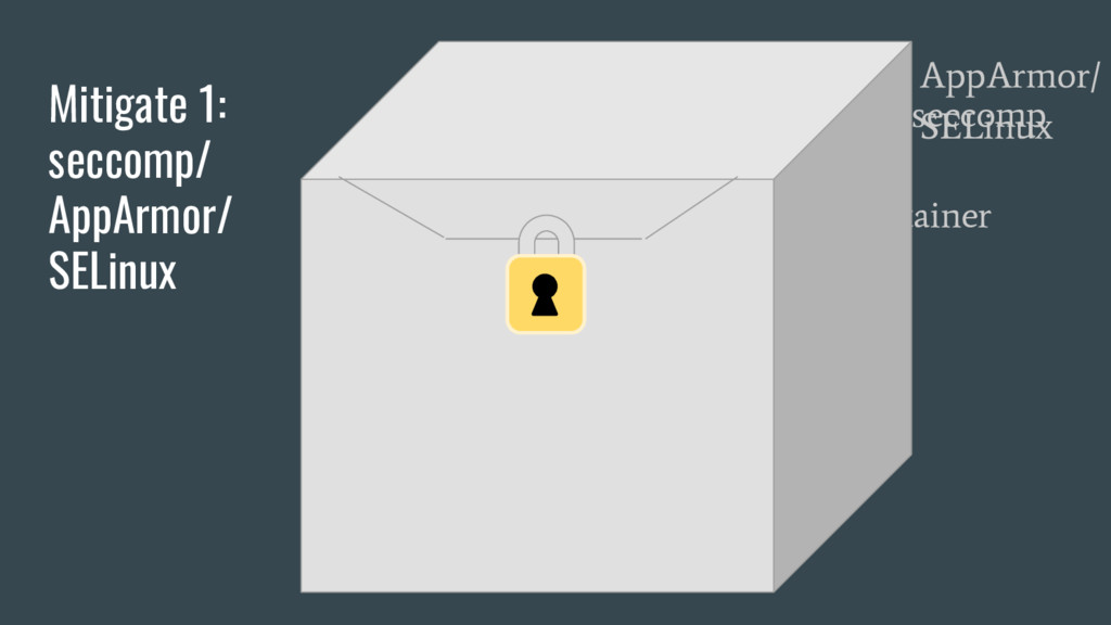 Your App Container seccomp Mitigate 1: seccomp/...