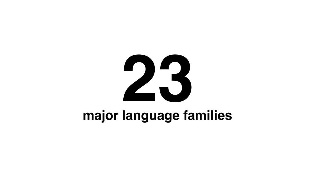 23 major language families