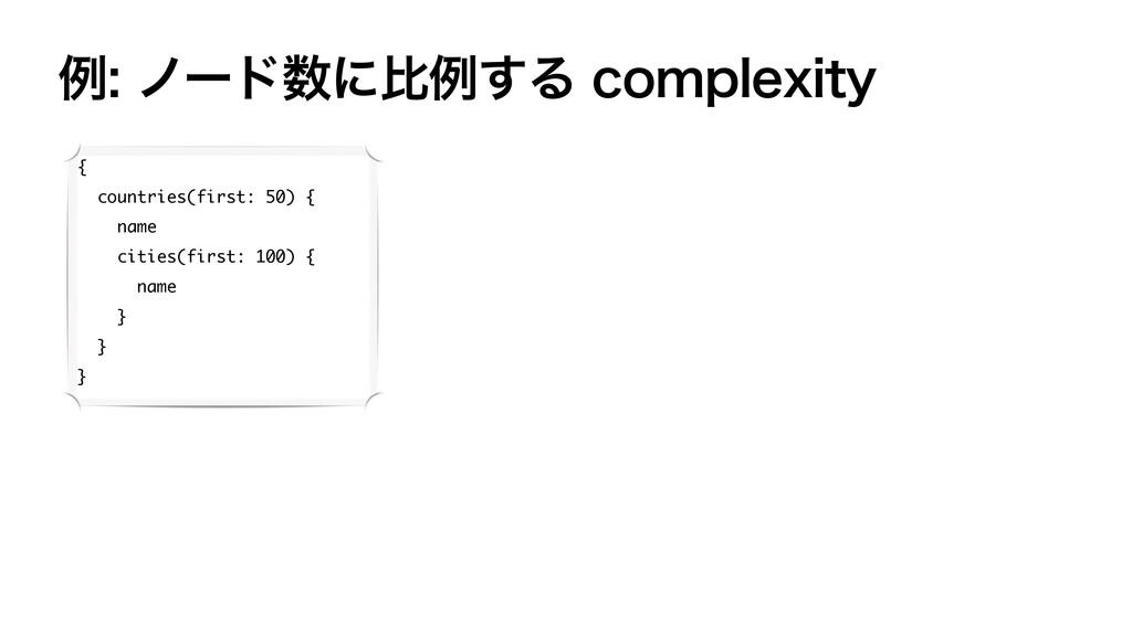 ྫϊʔυʹൺྫ͢ΔDPNQMFYJUZ { countries(first: 50) ...