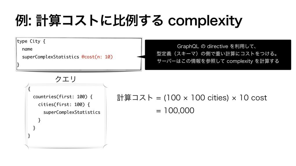 ྫܭίετʹൺྫ͢ΔDPNQMFYJUZ type City { name super...