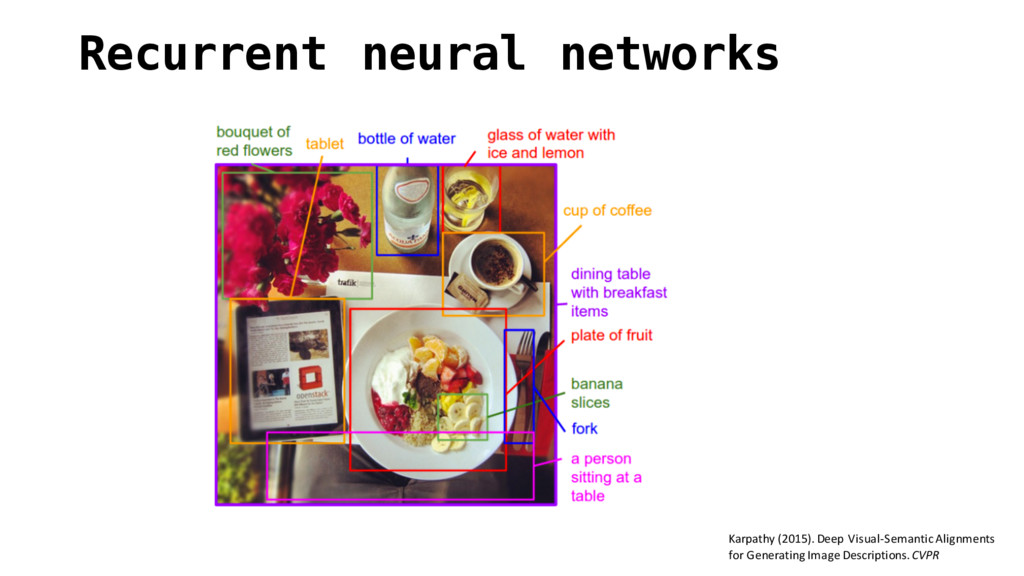 Recurrent neural networks Karpathy (2015). D...