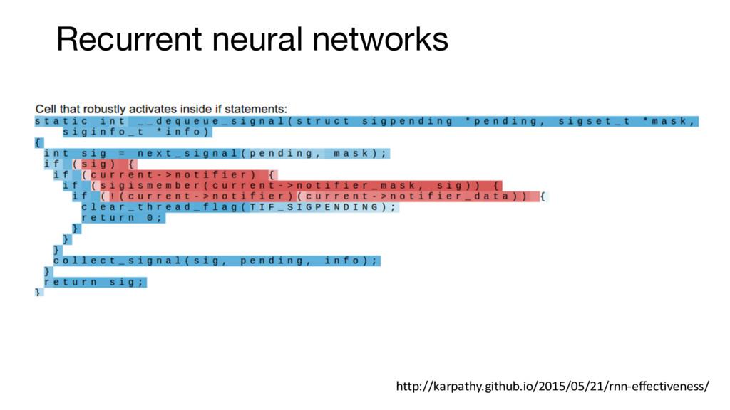 Recurrent neural networks http://karpathy.githu...