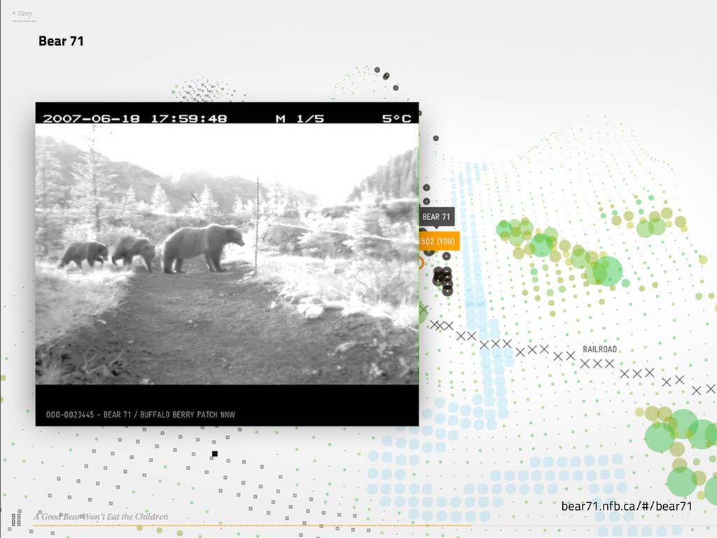 Bear 71 bear71.nfb.ca/#/bear71
