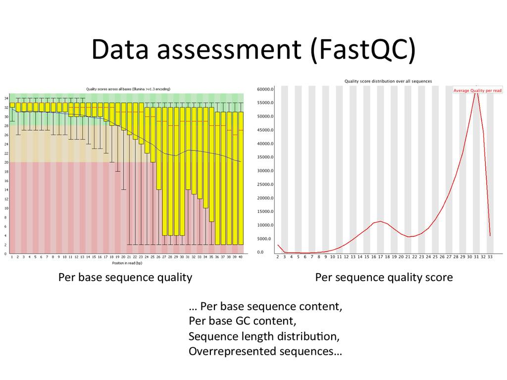 Data assessment (FastQC)  Per base...