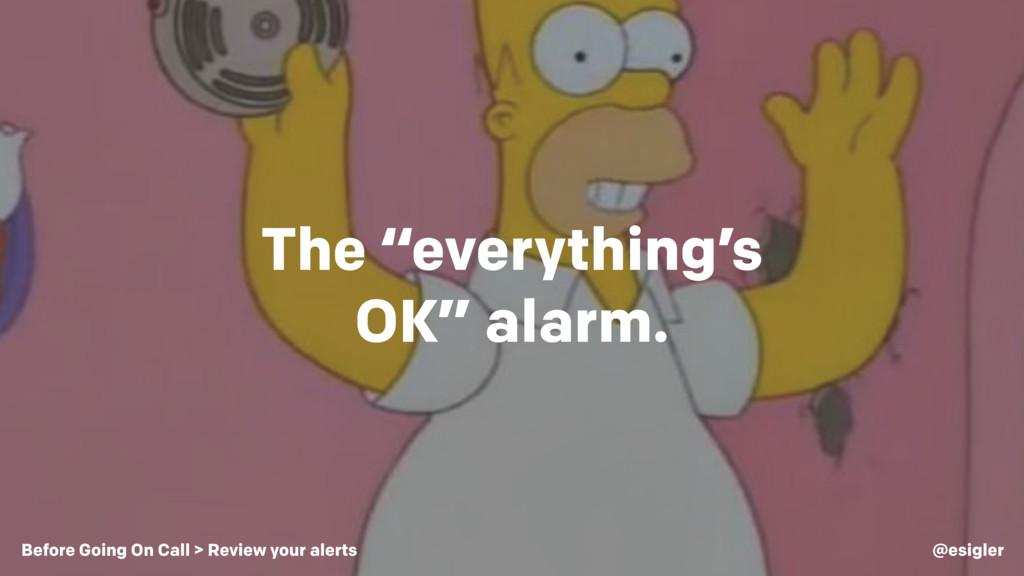 "The ""everything's OK"" alarm. @esigler Before Go..."