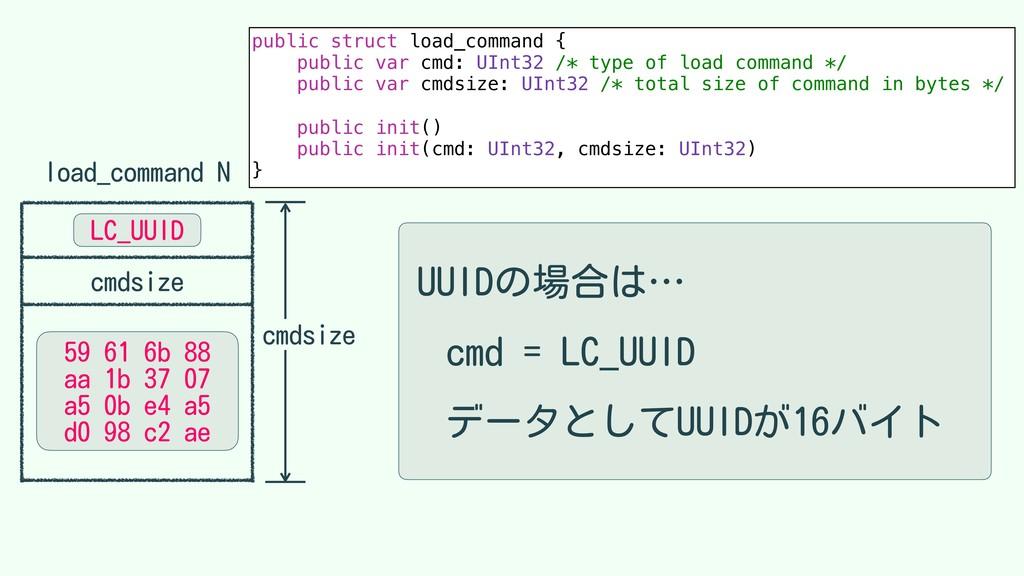 load_command N cmdsize public struct load_comma...