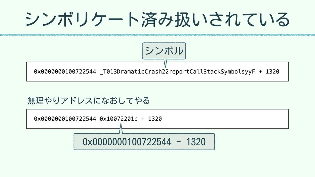 シンボリケート済み扱いされている 0x0000000100722544 _T013Dramat...