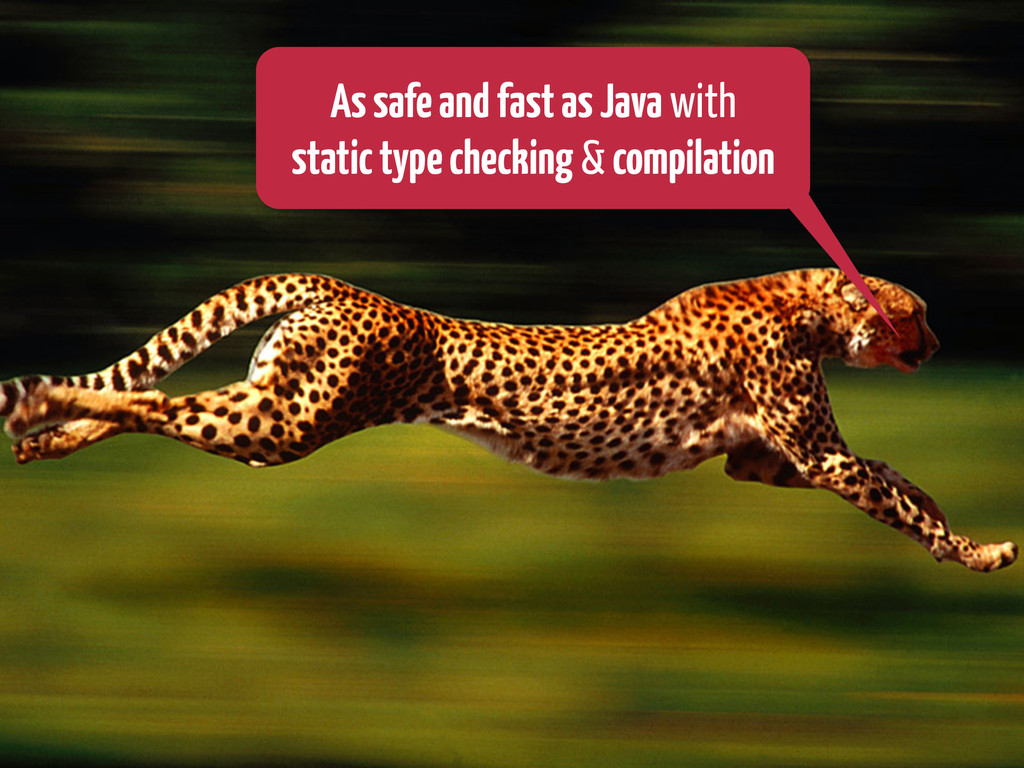 AssafeandfastasJava with statictypechecking & c...