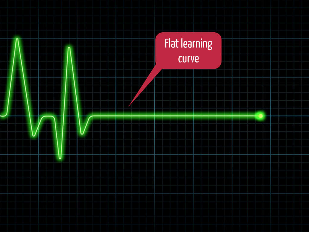 Flat learning curve