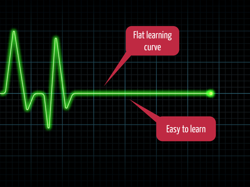 Flat learning curve Easy to learn