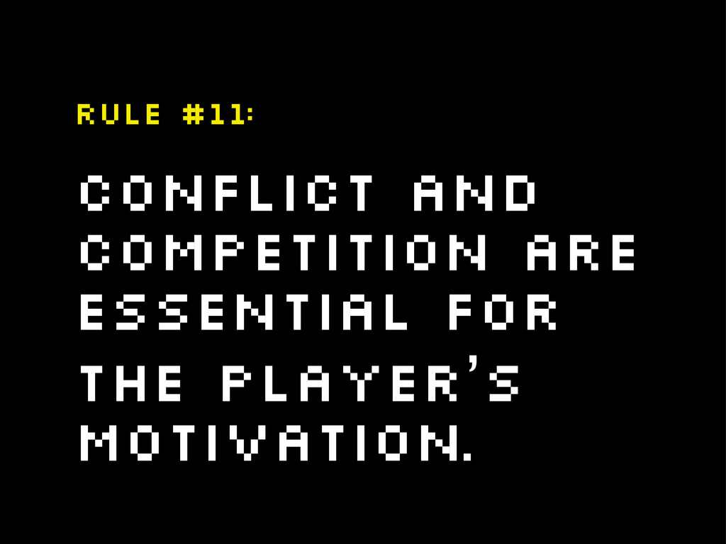 Conflict and competition are essential for the ...