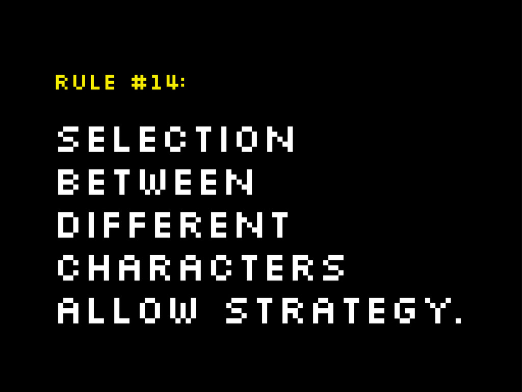 selection between different characters allow st...